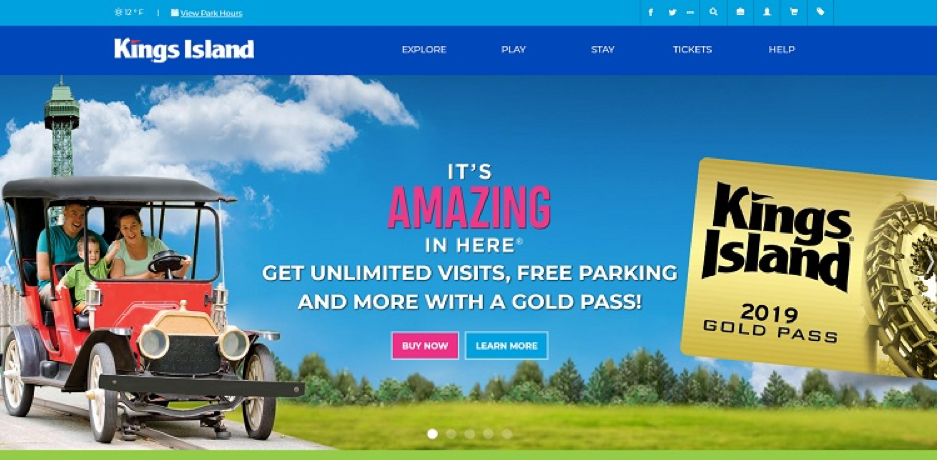 Kings Island Landing Page Example