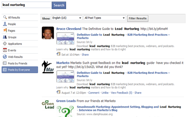 Lead Nurturing on Facebook